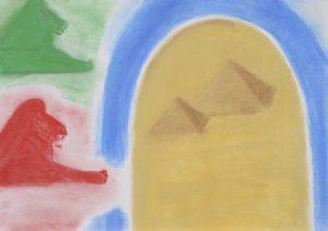 Kemetic pyramids sphinx art