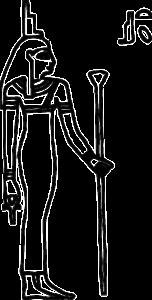 Egyptian goddess Isis Aset