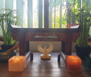 Kemetic altar and shrine